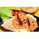 Crusted fish salad with mango