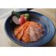 Sake sanshoku don+ miso soup