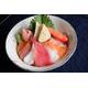 Chirashi sushi + miso soup