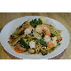Stir fried egg noodles with seafood