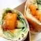 Avocado buffalo shrimp wrap