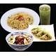 Set C - Char Siew Don/ Fried Garlic Rice + Boiled Gyoza + Japanese Green Tea