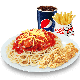 Jumbo Spaghetti + 2pcs Chicken Strips + Regular Fries + Softdrink