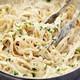 Chicken pasta with Alfredo sauces